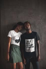 Free Couple Shirt Design Maker T Shirt Mockups Featuring Interracial Couples Groups