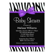 Girl Baby Shower Invitation Hot Pink And Black Zebra BabyPink Zebra Baby Shower Invitations