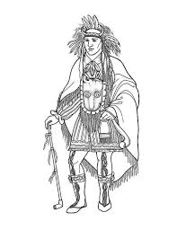 Indian Warrior Coloring Pages At Getdrawingscom Free For Personal