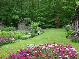 a garden outside garden of eden cabins