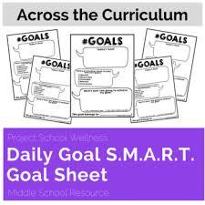 Goal Setting Template Extraordinary Daily Goal Sheet SMART Goal Activity Goal Setting Worksheet