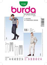 Mens Pants Pattern Amazing Amazon Burda Young Style 48 Men's Pants Jeans Twisted Seam