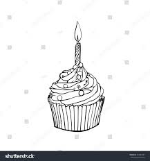 cupcake with candle vector. Interesting Candle Cup Cake With Light Candle Vector Inside Cupcake With Candle Vector A