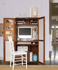 organizing a home office. an armoire neatly contains what you need to work at homeu2015including corkboard post important reminders advertisement home office organizing a 0