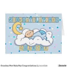 Newborn Congratulation Card New Baby Boy Grandson Congratulations Greeting Card Newborn