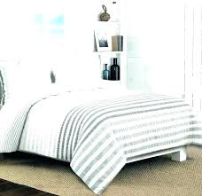 ticking stripe duvet cover striped set grey and white twin king stri