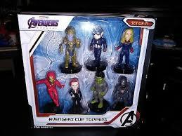<b>Avengers</b> Endgame Cup Topper <b>Set</b> 7 Figures NEW FREE SHIPPING