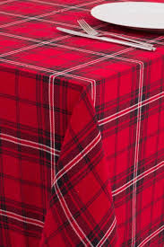 red plaid tablecloth 60 by 110 inches