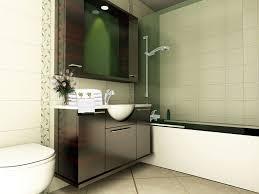 Bathroom Sleek Modern Tiny Bathroom Interior Decor Idea With
