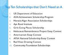 searching for scholarships hard work does pay off your debt  top ten scholarships that don t need an a 1 us department of education