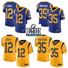 Navy Los Anderson Cooks 12 35 Rams Blue Superbowl Brandin Liii j Super C Man Jerseys Cj Bowl Football Yellow 2019 Gold Patch Angeles