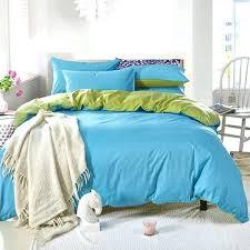 plain duvet covers double 3 4pcs pure cotton sky blue green color assorted bedding sets plain