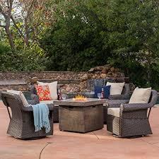 augusta patio furniture 5 piece outdoor wicker swivel