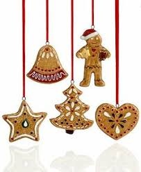 Nostalgic Christmas Decorations | Villeroy & Boch Christmas Ornaments, Set  of 5 Gingerbread