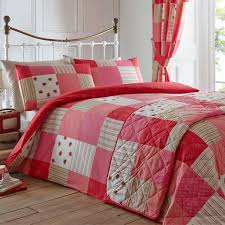 dreams n ds patchwork duvet cover set red single linens limited