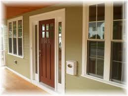 White Front Door With Sidelights