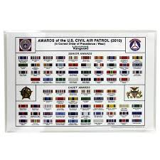 Civil Air Patrol Senior Ranks Chart Civil Air Patrol Poster Ribbon Chart Civil Air Patrol