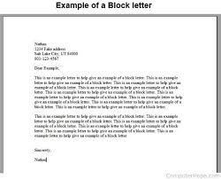 Block Letter Sample What Is A Block Letter