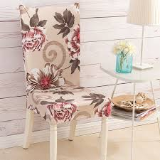4pcs big flower print elastic dining chair covers spandex stretch kitchen chair protector cover for chairs slipcover home decor in chair cover from home