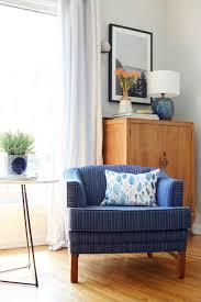 ginny macdonald blue striped chair