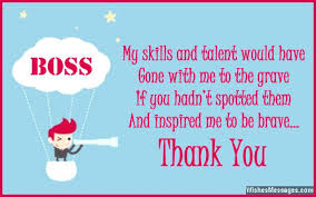 Thank You Message To Boss For Gift Thank Appreciation Note To Boss You My For A Gift Studiorc Co