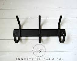 Iron Coat Rack Wall Awesome Metal Coat Rack Hooks Industrial Farm Co