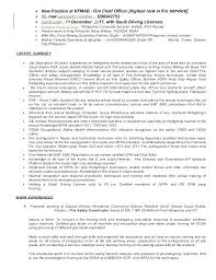 Fire Chief Cover Letter Resume Bank