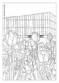 Delftse Post Tulpen Kleurplaat