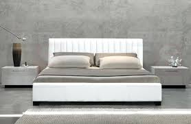 decorating marvelous white leather king bed new queen double size deluxe frame headboard captivating faux single