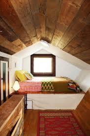 attic sleeping nook in mid-century modern style