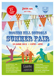 How To Design A Poster For School The School Summer Fair Poster Summer Fair School Fair