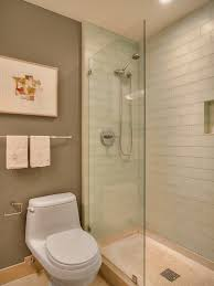 glass subway tile shower Bathroom Contemporary with bathroom tile