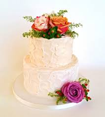 7 2 Layer Buttercream Cakes Photo Simple 2 Tier Wedding Cake With