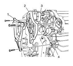 Remove the mode cam bracket 1 mode cam 2 and the mode cam levers 3 and 4 refer to the illustration above and the mode cam replacement procedure in