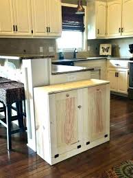 kitchen trash cans wooden containers wood can holder oak 13 gallon