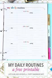 Daily Routine Printable My Daily Routine Printable