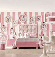 bedroom ideas for teenage girls pink. Good-looking Interior Agreeable Girl Bedroom With Dog Dolls And Poster Likable White Pink Stripes Wall Cool Room Designs For Teenage Girls Bedrooms Ideas
