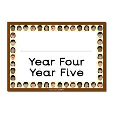 classroom door. Year Four Five Classroom Door Sign