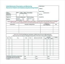 Free Printable Medication List Template Log Form Weekly