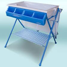 baby go standard bathinette bathtub changer combo in blue in blue free