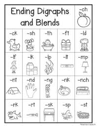 Free Ending Blends Chart Rainbow Chevron Chalkboard Final Consonant Blends Digraphs Posters Charts