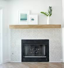 The final project that remained was to add tile and a mantel to the  fireplace and I'm very pleased with the result!