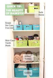 bathroom closet organization. All Sorts Of Good Ideas For Baskets Used To Organize Here. Bathroom Closet Organization
