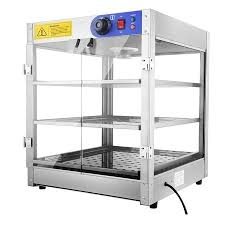 commercial 24x20x20 3 tier countertop food pizza pastry warmer display case 750w 110v com