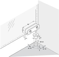 glass door hinge 90 pivot unsprung