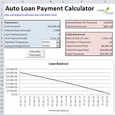 Loan Calculation Template Excel Formula For Car Payment Magdalene Project Org