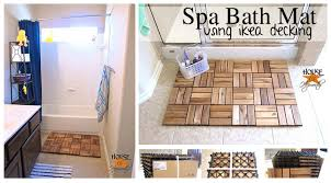 awesome ikea of the week an unbelievably easy spa inspired wooden bath mat