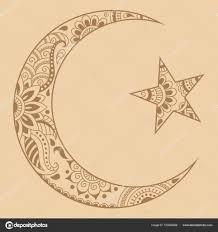 полумесяц символ тату религиозные исламский символ звезда и