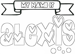 Name Coloring Pages Alexis Coloringstar