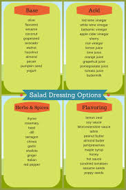 Salad Dressing Chart How To Make A Simple Salad Dressing Blue Moon Acres